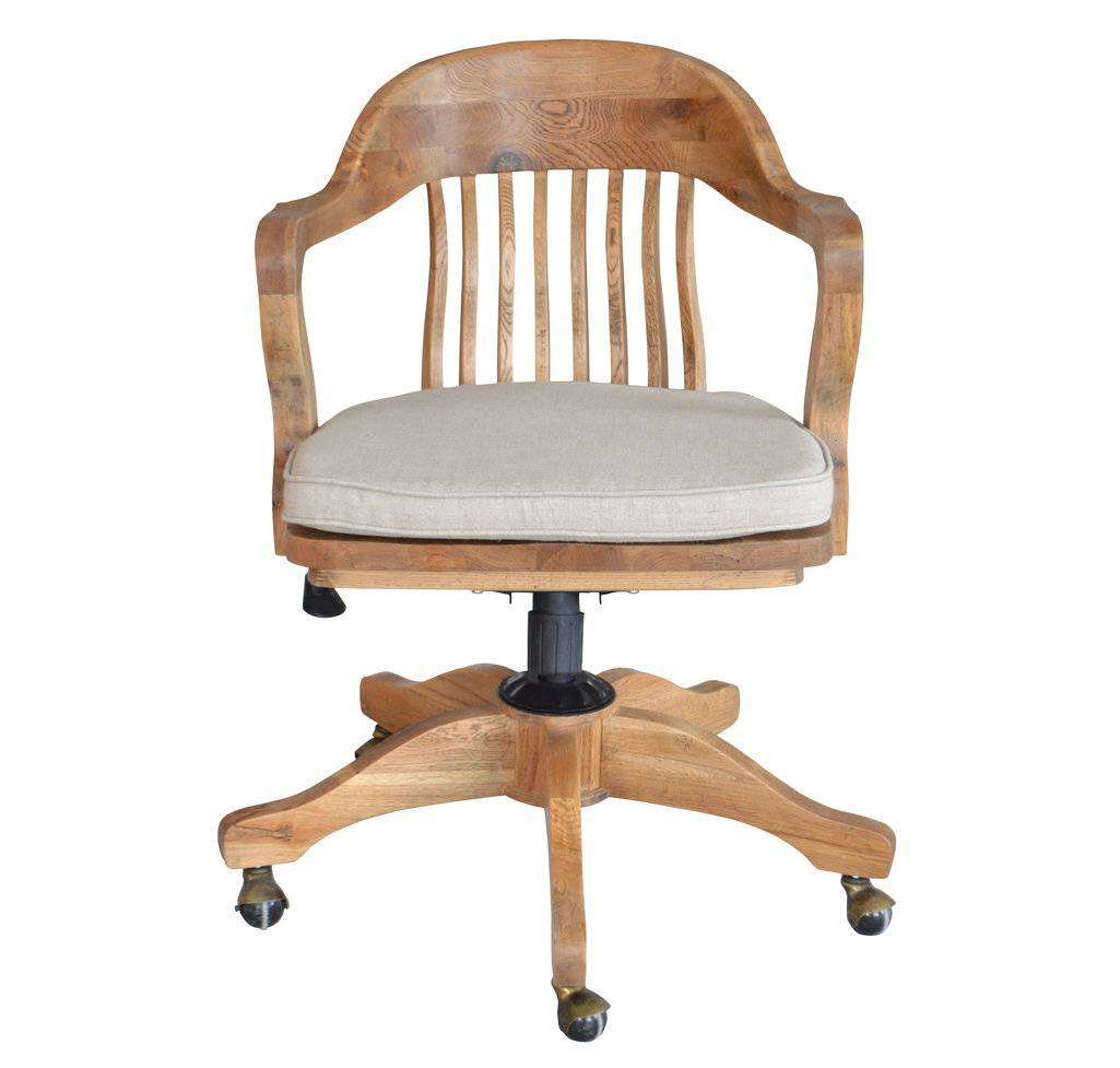 weathered oak office chair